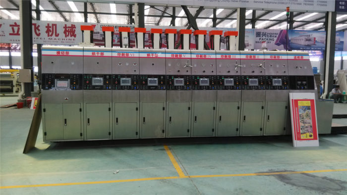 High Definition Flexo Printing Machine for Corrugated Box with Sun Feeder ColorMaster USA