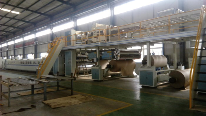WJ180-1600-Ⅲ 7 Ply Corrugated Cardboard Production Line