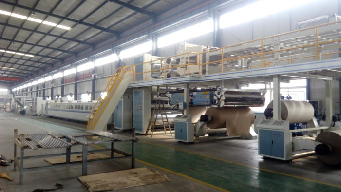 WJ180-1600-Ⅱ 5 Ply Corrugated Cardboard Production Line