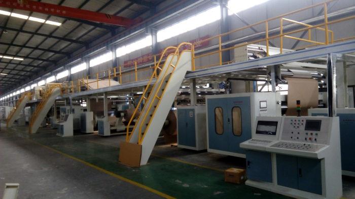 WJ180-1400-Ⅰ3 Ply Corrugated Cardboard Production Line