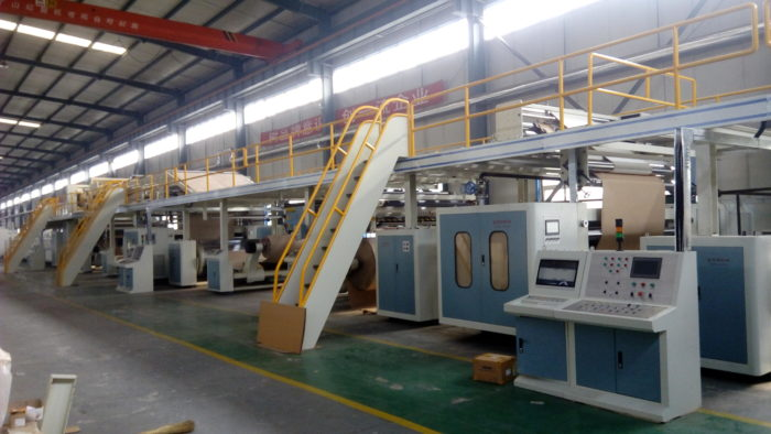 Auto Corrugated Plant for Corrugated Carton Box Making Machine-WJ260-1800 5 Ply