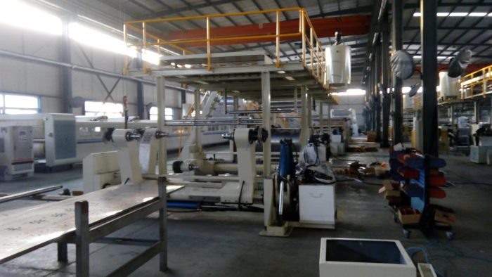 WJ180-1400-Ⅲ 7 Ply Corrugated Cardboard Production Line