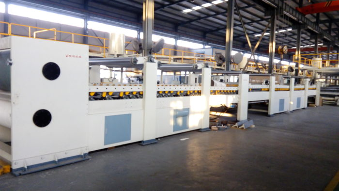 Corrugated Paperboard Manufacturing Process with Pre-Printed Surface Liner
