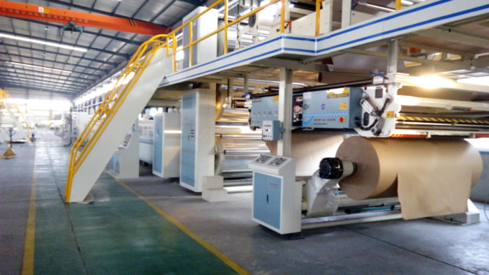 WJ180-2000-Ⅰ3 Ply Corrugated Cardboard Production Line