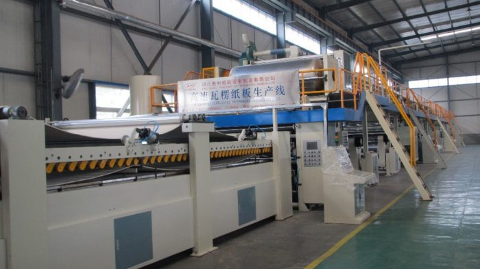 WJ180-1800-Ⅱ 5 Ply Corrugated Cardboard Production Line