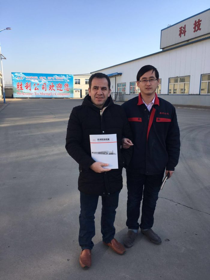 Client from Algeria Trading Company visit Shengli to Look for Flexo Printer