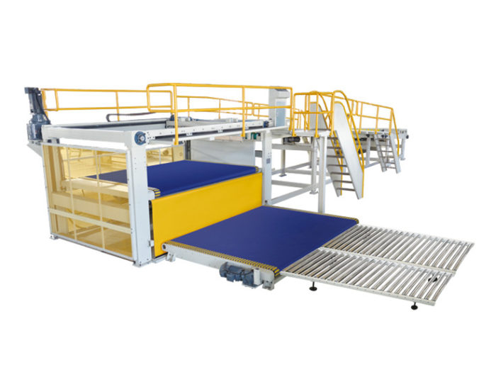 Corrugated Sheets Auto Hang Basket Stacker